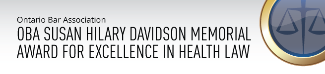 OBA Susan Hilary Davidson Memorial Award for Excellence in Health Law