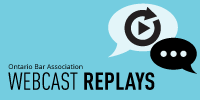 WEBCAST REPLAYS WITH LIVE CHAT