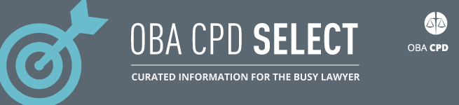 OBA CPD Select Curated Informtion for the Busy Lawyer