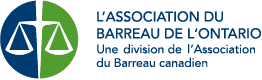 Ontario Bar Association Logo French