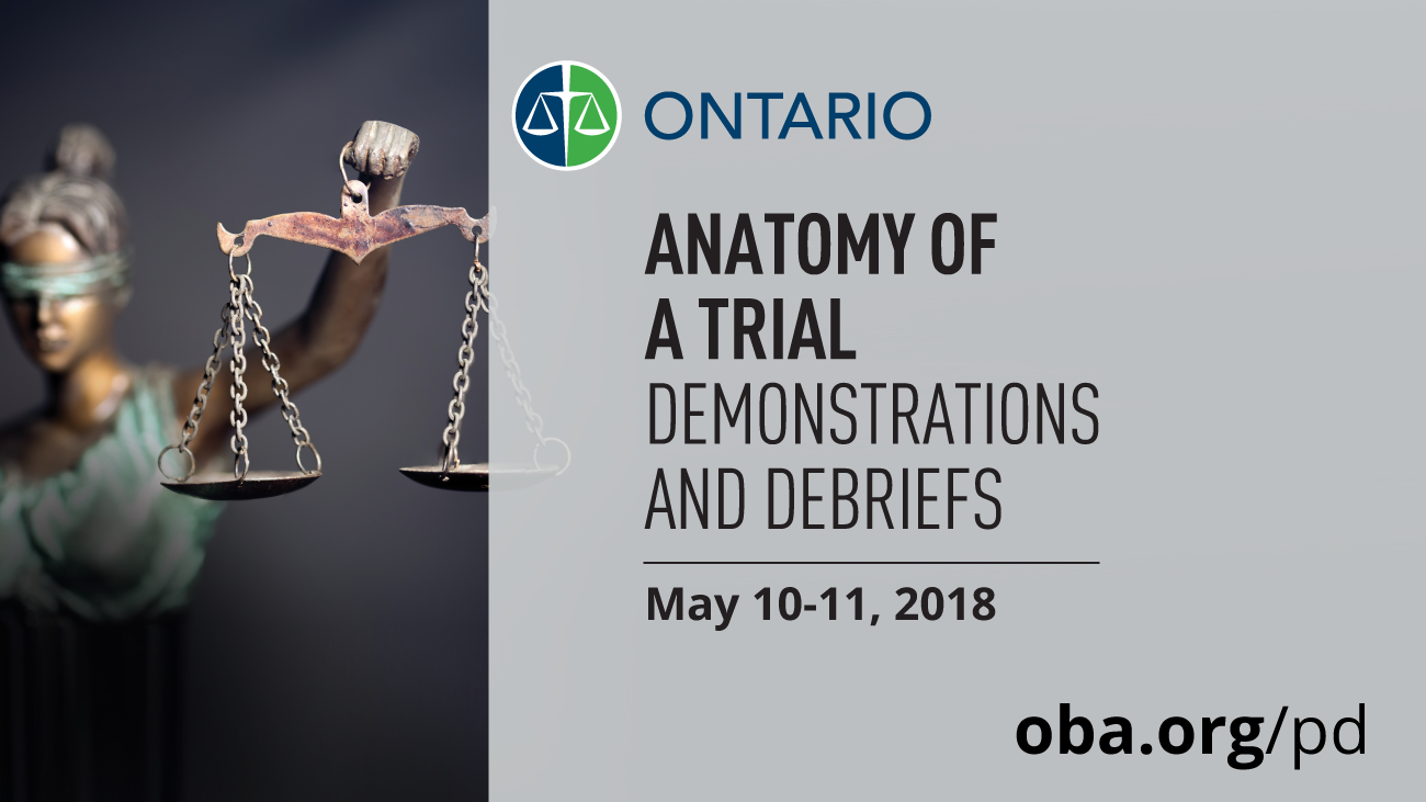 Anatomy of a Trial: Demonstrations and Debriefs