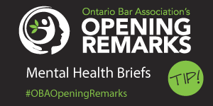 Opening Remarks Mental Health Briefs