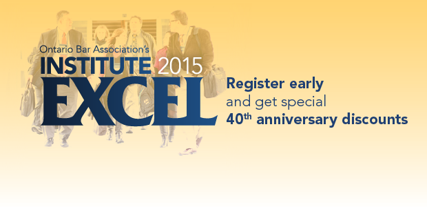 Registration is now open for INSTITUTE 2015 (February 4-7)