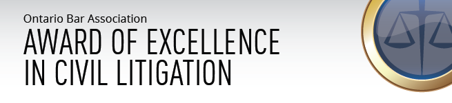 2016 OBA Award of Excellence in Civil Litigation