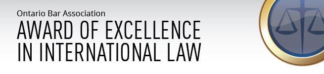 2016 OBA Award of Excellence in Internatioanl Law