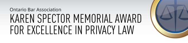 Karen Spector Memorial Award for Excellence in Privacy Law