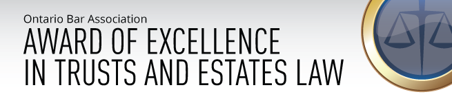 OBA Award of Excellence in Trusts and Estates Law
