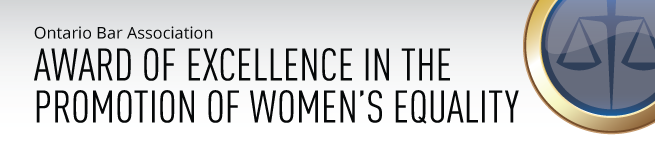 The OBA Award of Excellence in the Promotion of Women's Equality