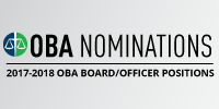 2017-18 OBA BOARD/OFFICER NOMINATIONS