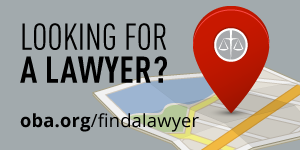 Looking for a Lawyer oba.org/findalawyer