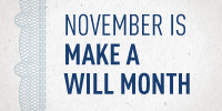 IT'S MAKE A WILL MONTH