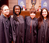 Students dressed in Robes for Law Day
