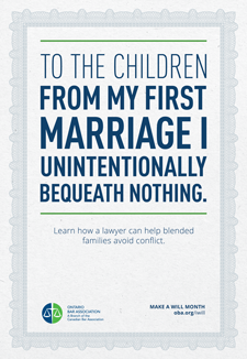 To the Children from my first marriage I unintentionally bequeath nothing