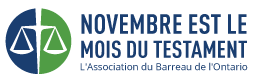 Make a Will Month French Logo
