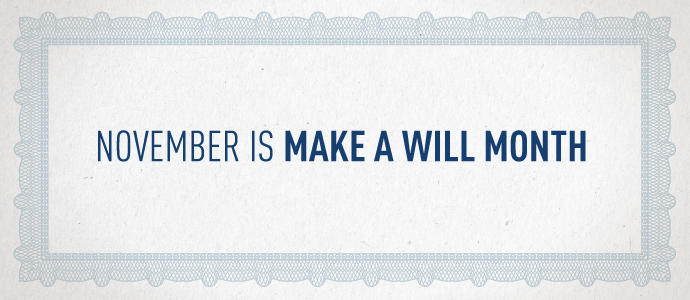 November is Make a Will Month